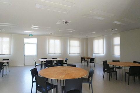 Realizzazione di zona pranzo aziendale per ospiti e clienti ima impianti - Menu per ospiti a pranzo ...